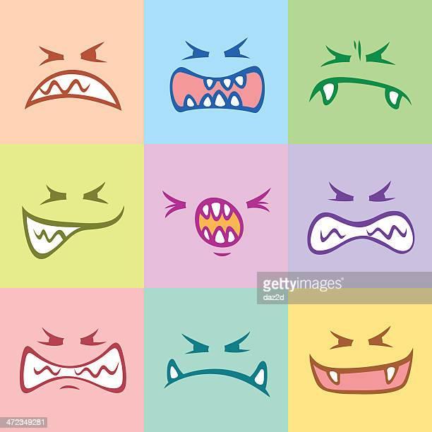 illustrations, cliparts, dessins animés et icônes de monster visages - musicien pop