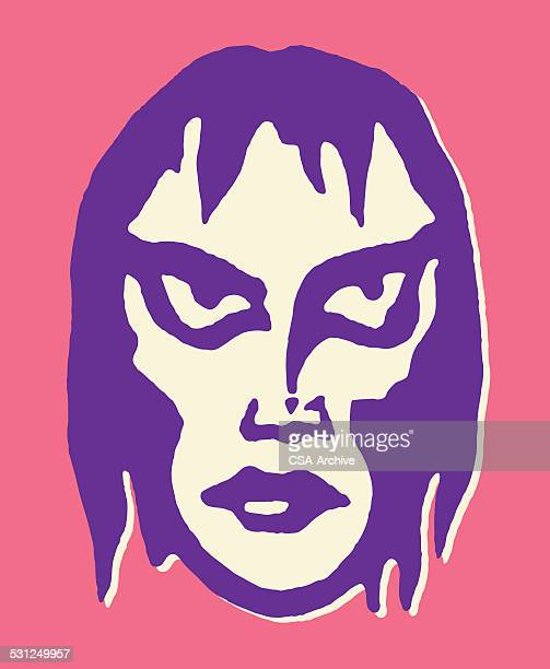 monster mask - goth stock illustrations, clip art, cartoons, & icons