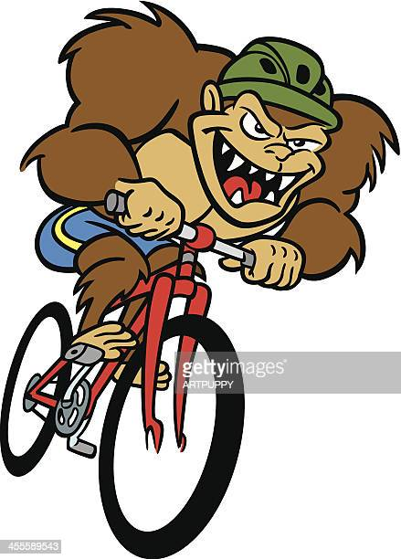 Monster on Bicycle