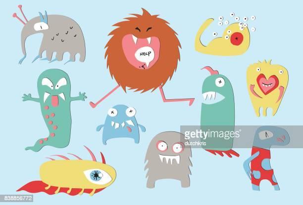 monster papercuts - cyclops stock illustrations, clip art, cartoons, & icons