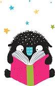 Monster Reading Book Cartoon for Kids