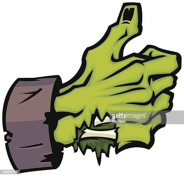 monster thumbs up - zombie stock illustrations, clip art, cartoons, & icons