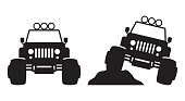 Monster Truck Front View Silhouette