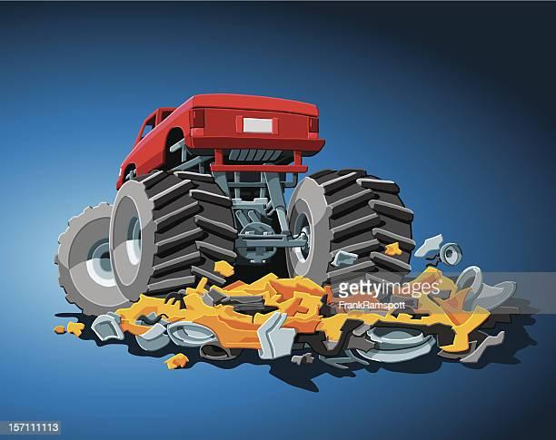 ilustraciones, imágenes clip art, dibujos animados e iconos de stock de monster truck - monstertruck