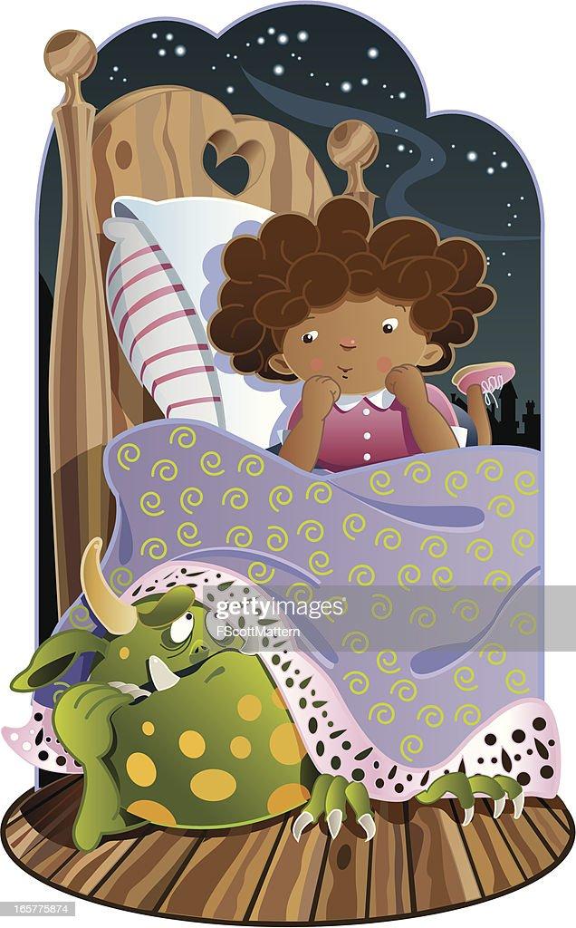 Monster Under the Bed : stock illustration