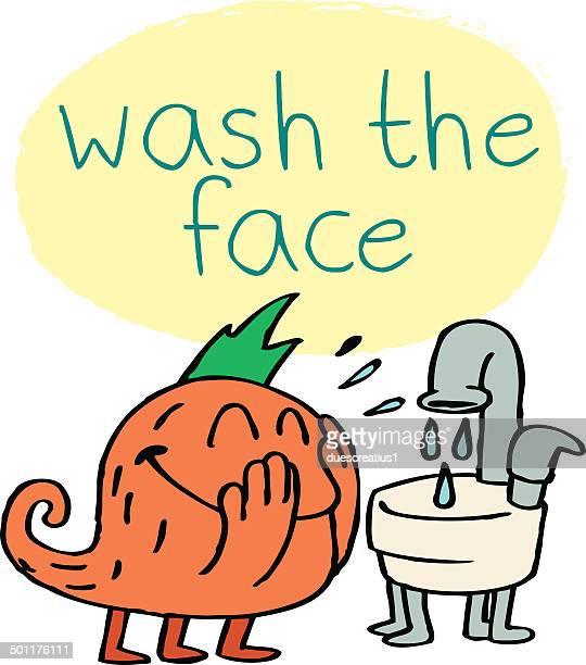 モンスター洗浄の顔
