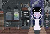 Monster-Girl in Laboratory