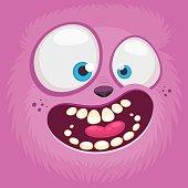 Monsters face cartoon creature avatar illustration vector stock