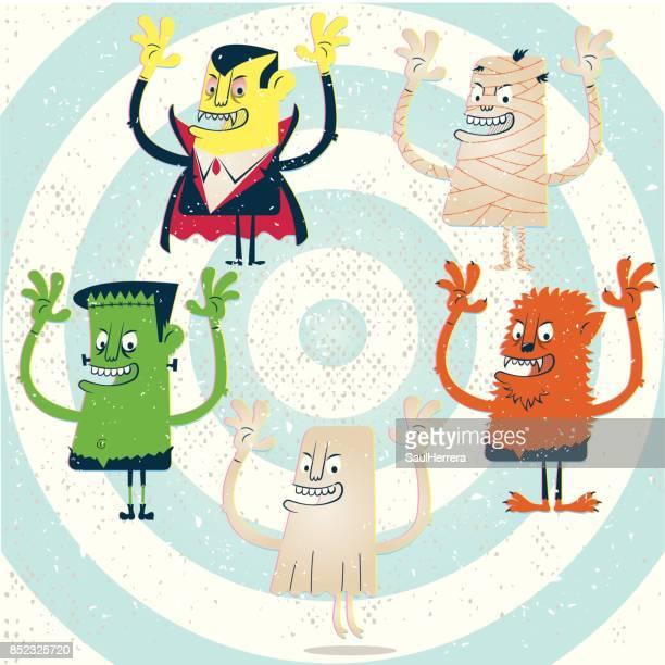 ilustrações de stock, clip art, desenhos animados e ícones de monsters halloween - lobisomem