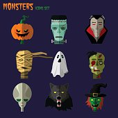 Monsters set of icons
