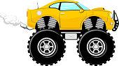 monstertruck car cartoon
