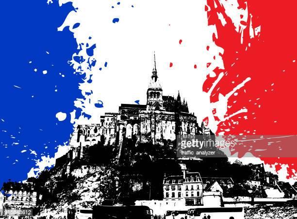 ilustrações, clipart, desenhos animados e ícones de monte saint michel - normandy