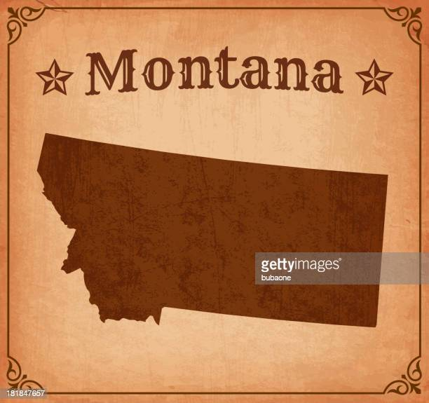 Montana Grunge Map with Frame