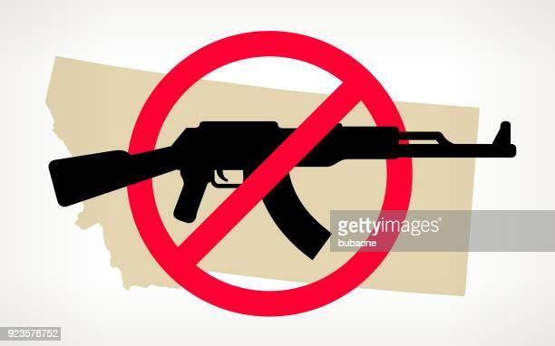 Montana No arma violencia Vector Poster