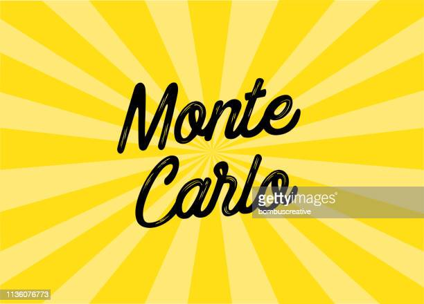 monte carlo lettering design - monte carlo stock illustrations, clip art, cartoons, & icons