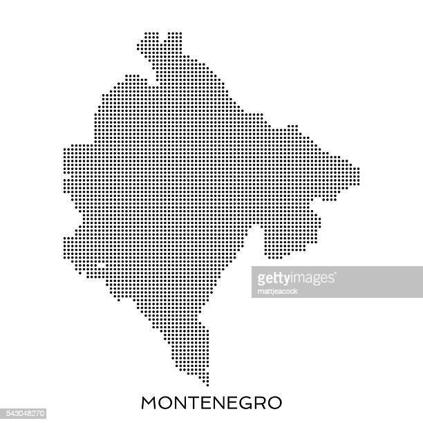 montenegro dot halftone pattern map - montenegro stock illustrations, clip art, cartoons, & icons