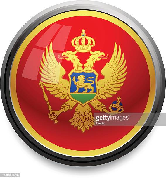 montenegro - flag icon - montenegro stock illustrations, clip art, cartoons, & icons