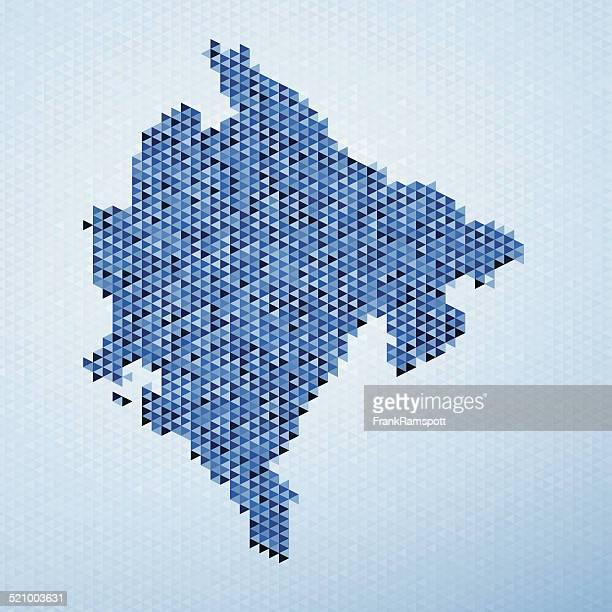 montenegro map triangle pattern blue - montenegro stock illustrations, clip art, cartoons, & icons