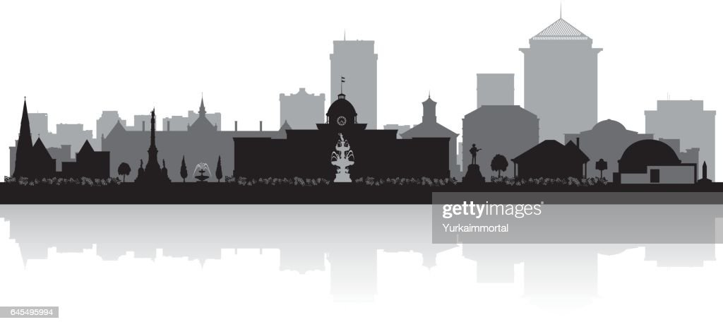 Montgomery Alabama city skyline silhouette