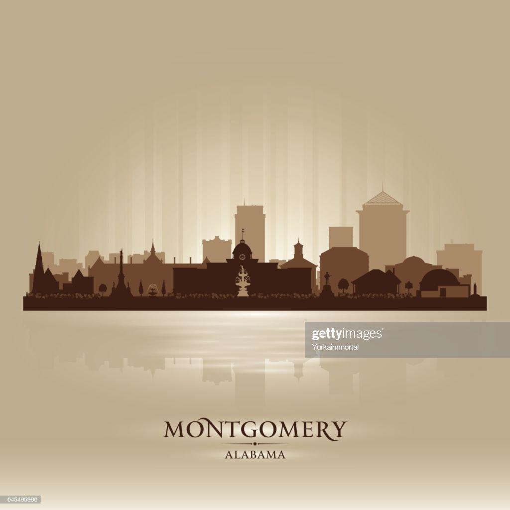 Montgomery Alabama city skyline silhouette