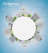 Montgomery Skyline with copy space
