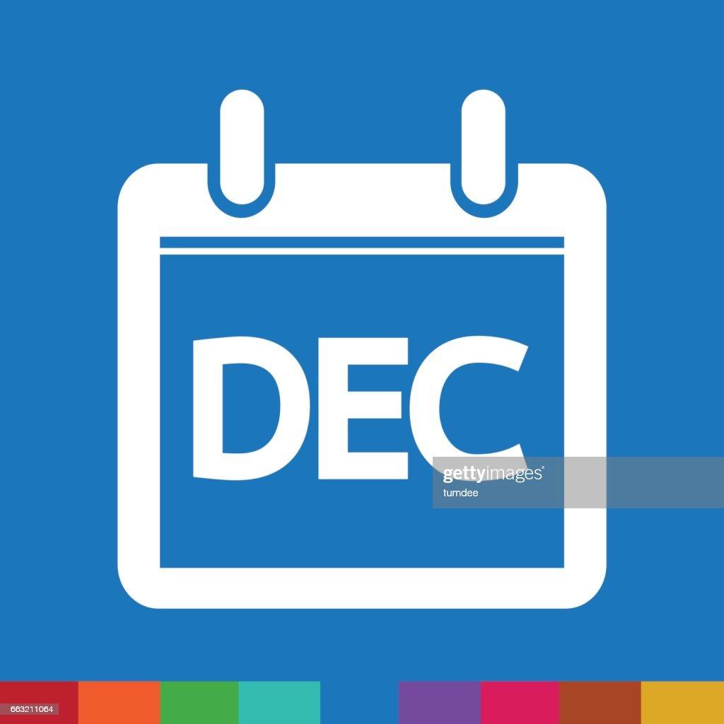 Month Calendar Icon  illustration sign design style