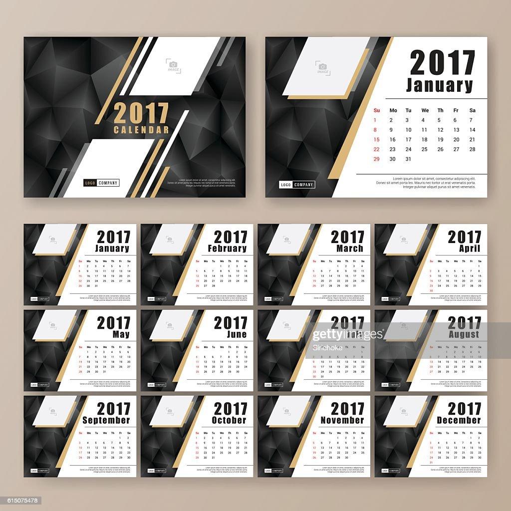 12 month desk calendar template