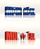 3D Montreal, Quebec (Canada) Vector Word Text Flag