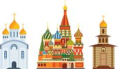 Monuments architecture, famous Orthodox Church of St. Basil Blessed, cathedral