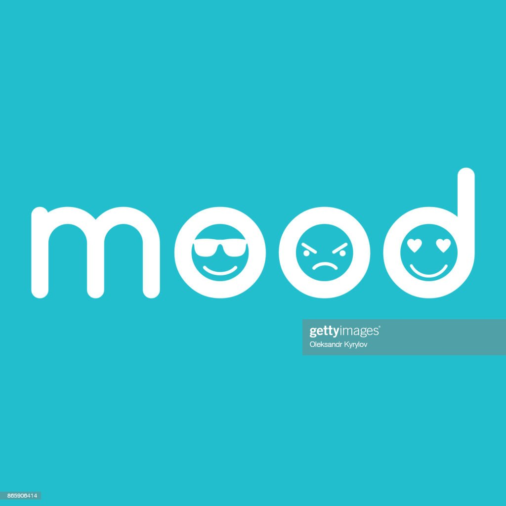 mood typographics concept with faces