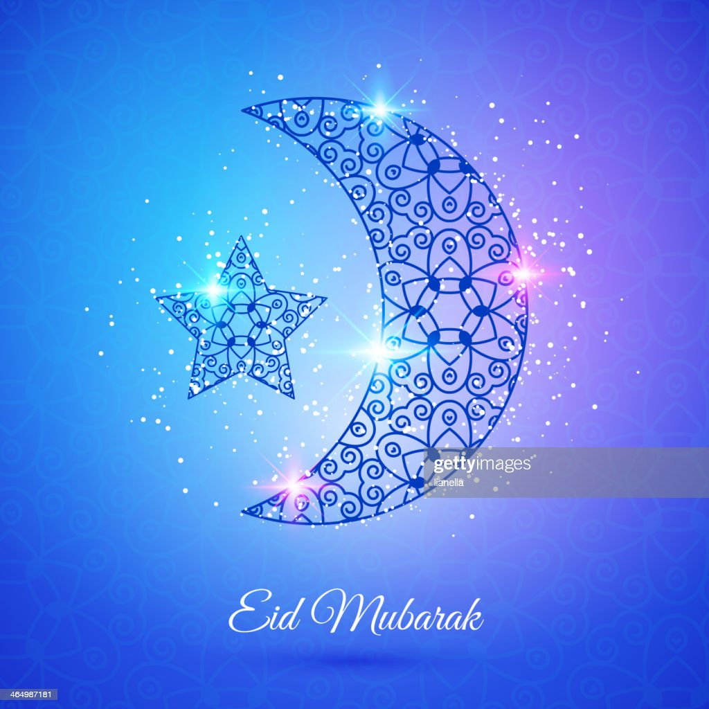 A moon and star for the Eid Mubarak festival