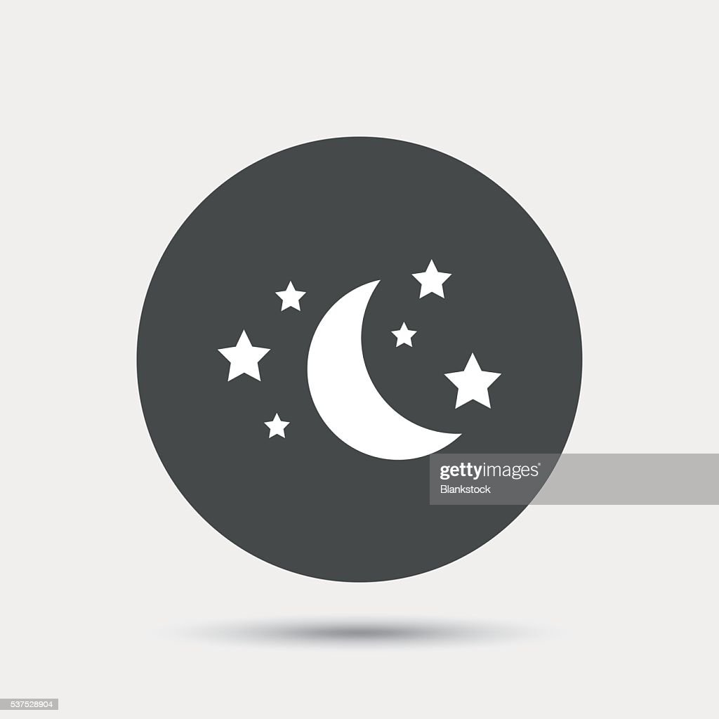 Moon And Stars Sign Icon Sleep Dreams Symbol Vector Art Getty Images