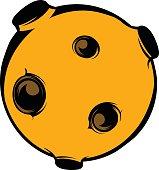 Moon icon, icon cartoon