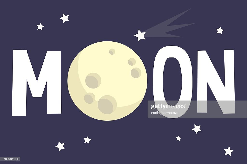 Moon illustrated sign