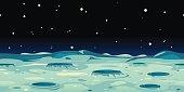 Moon Landscape Background
