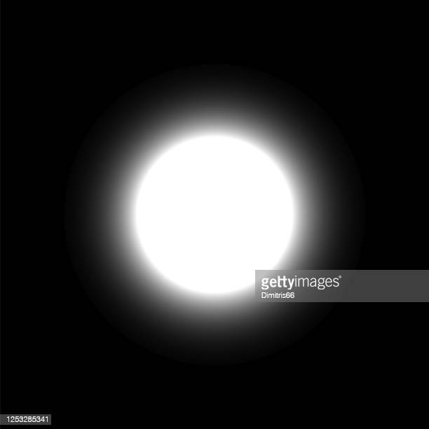 moon on dark sky - glowing stock illustrations