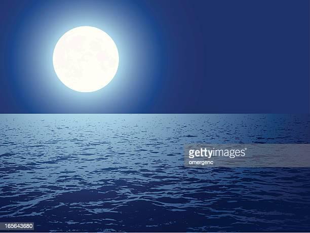 60点の夜海のイラスト素材クリップアート素材マンガ素材アイコン