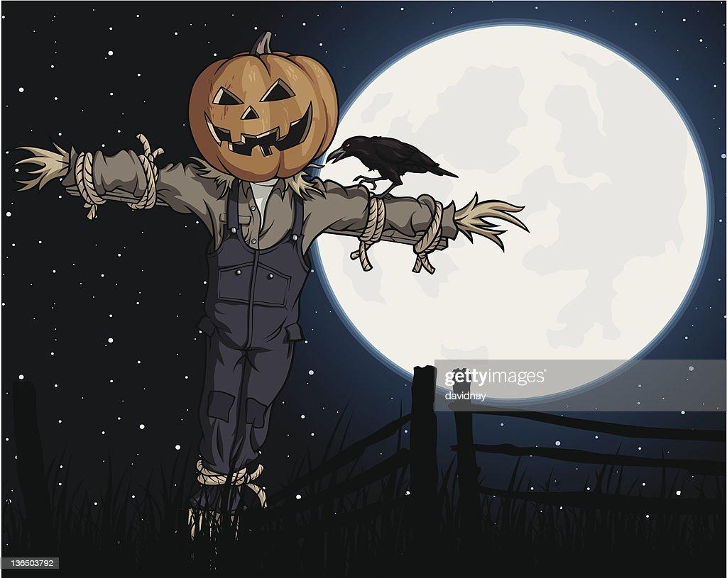 Moonlit Scarecrow