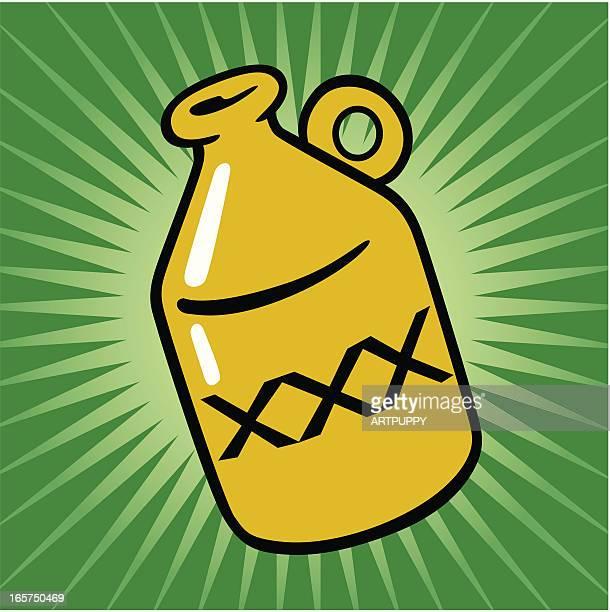 moonshine icon - jug stock illustrations, clip art, cartoons, & icons