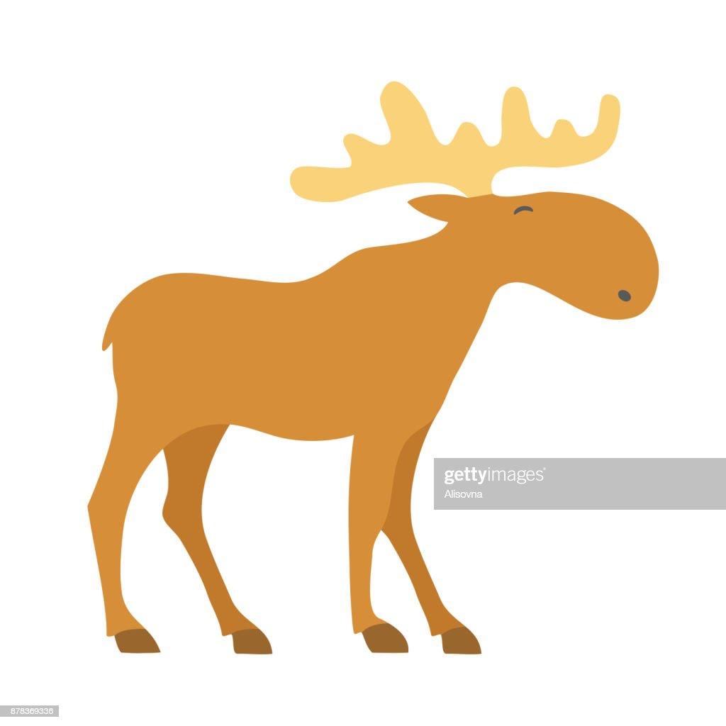 Moose cartoon icon