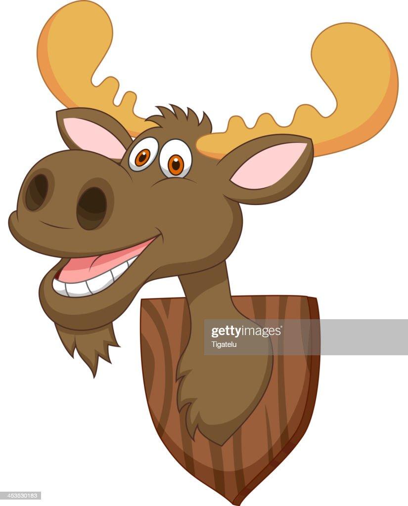 Moose head cartoon