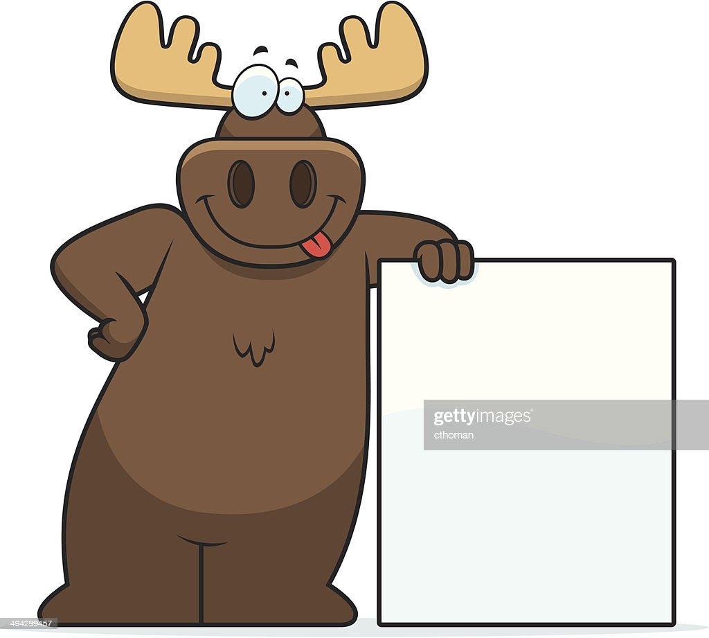 Moose Leaning
