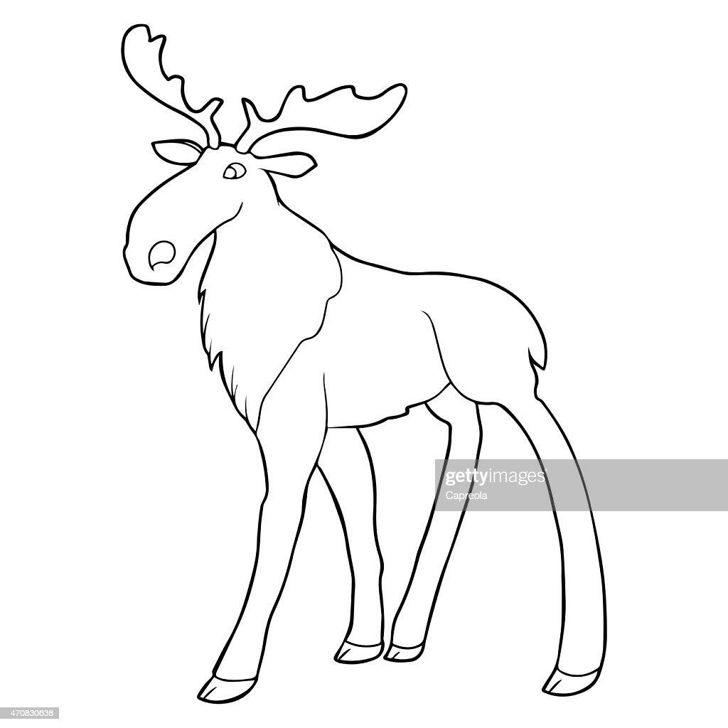 Moose outline illustration