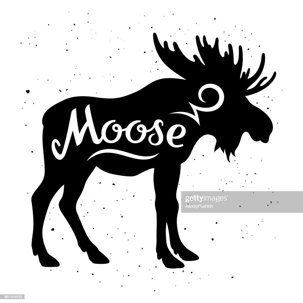 Moose silhouette 002
