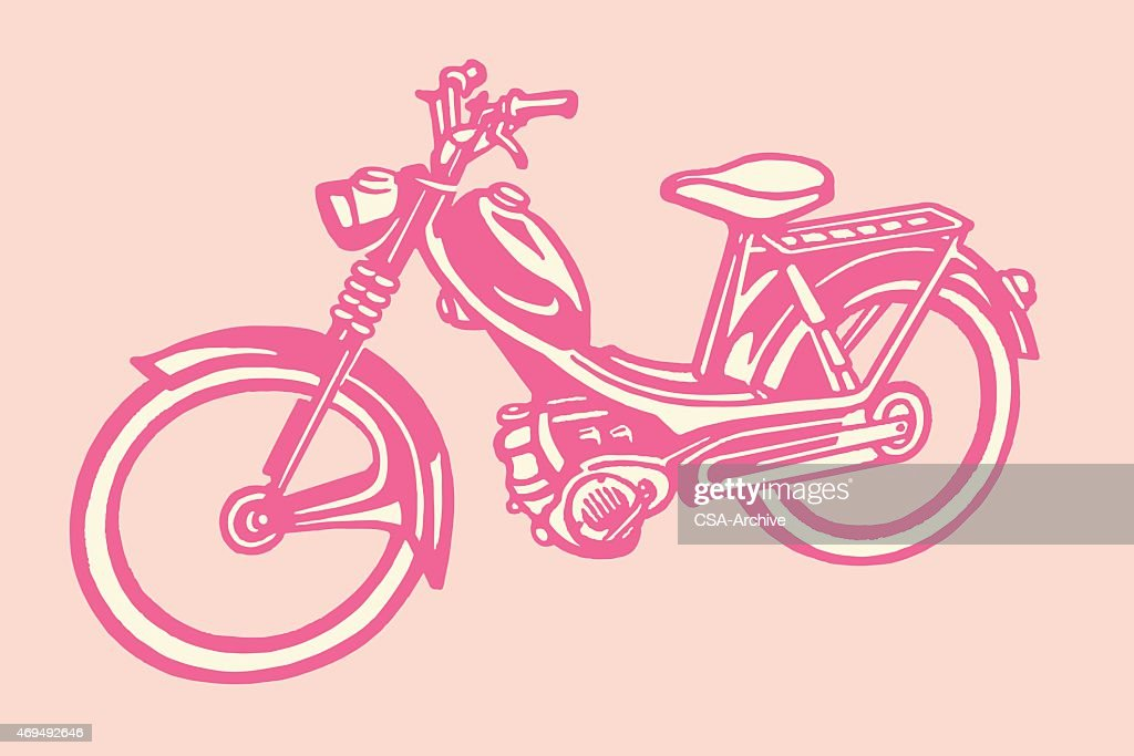 Moped : stock illustration