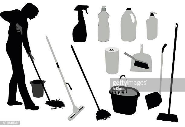mopping cleaning products - dustpan stock illustrations, clip art, cartoons, & icons