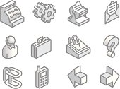 More Isometric Web Site Icons