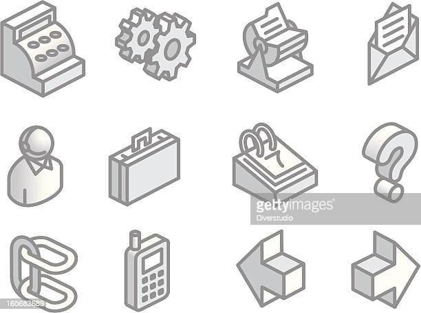 more isometric web site icons - rolodex stock illustrations, clip art, cartoons, & icons