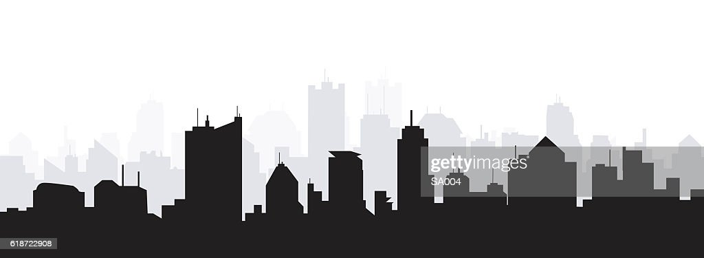 Morning City Skyline
