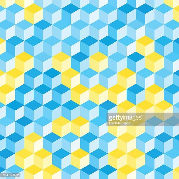 Morgen geometrischen Sechseck Muster Cube